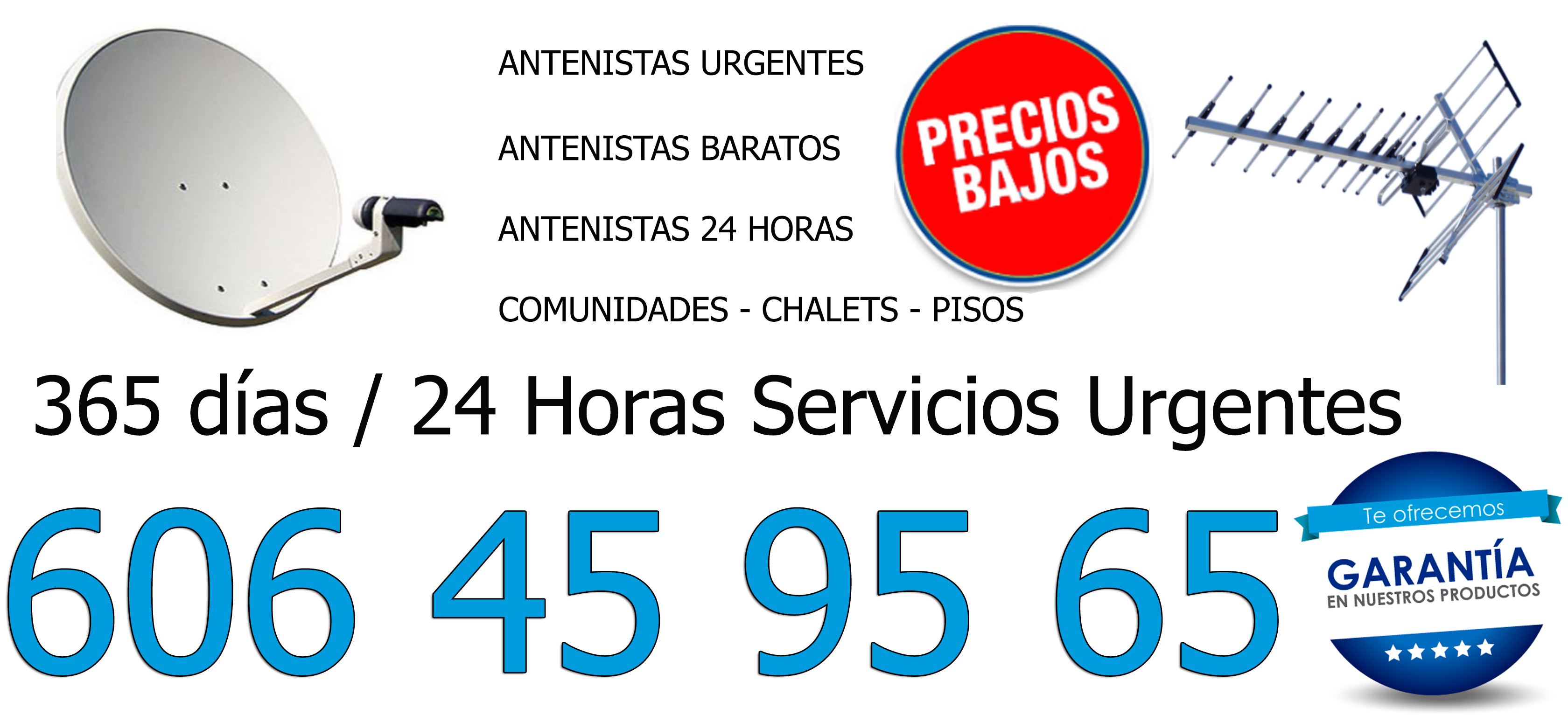 Reparaciones de Antenas Alameda de osuna en domicilios y locales.